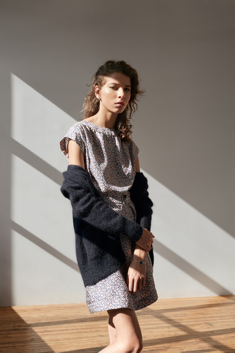 Barneys New York XO Jennifer Meyer Silk Belted Dress