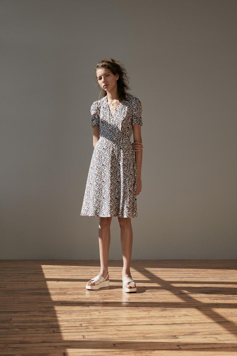 Barneys New York XO Jennifer Meyer Silk Crêpe De Chine Wrap Dress