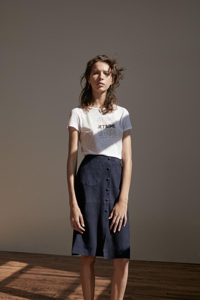 Barneys New York XO Jennifer Meyer Suede Midi-Skirt