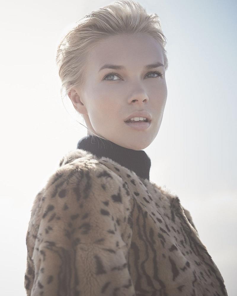 Belle Fare 34-Sleeve Animal-Print Fur Coat