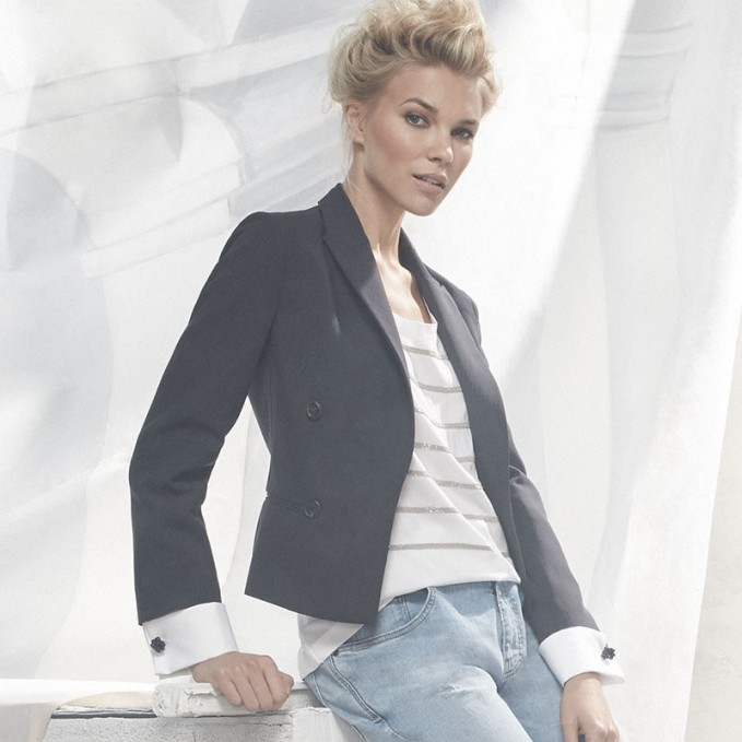 Brunello Cucinelli Double-Breasted Long-Sleeve Blazer
