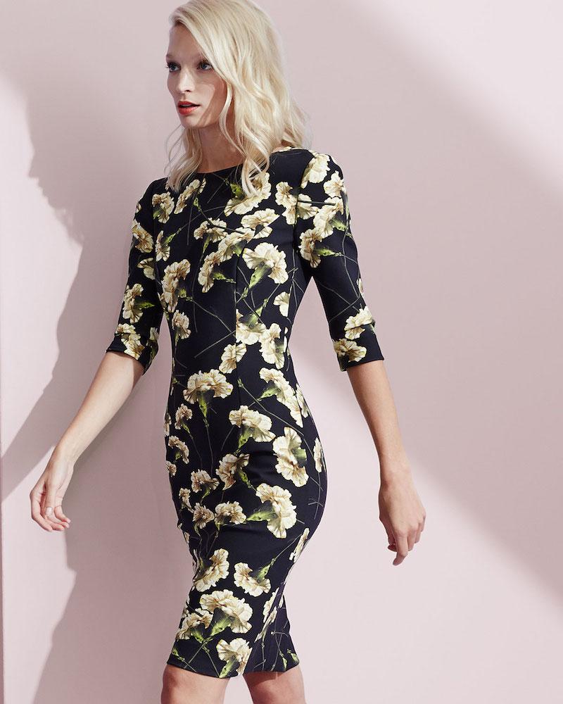 Carolina Herrera Carnation-Print Techno Dress
