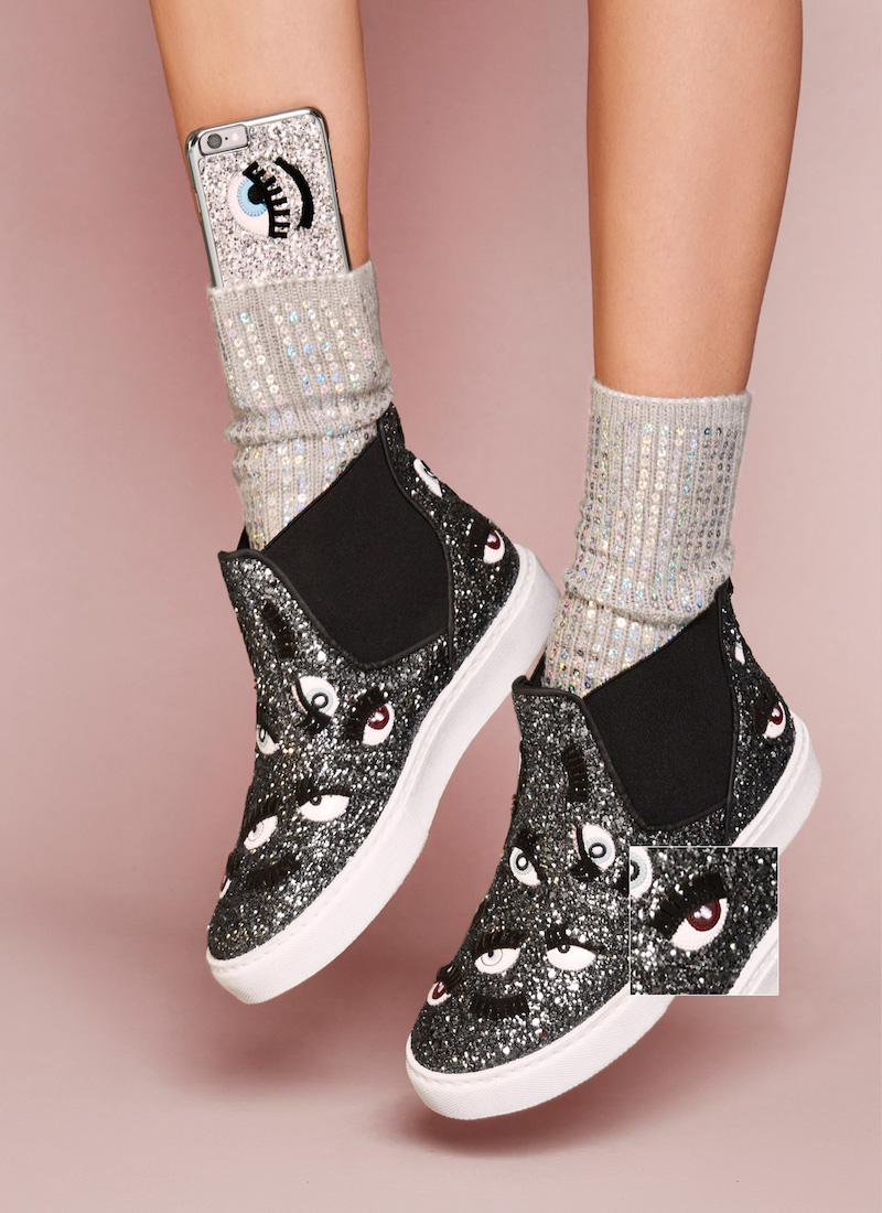 Chiara Ferragni Monster Eye High-Top Sneaker