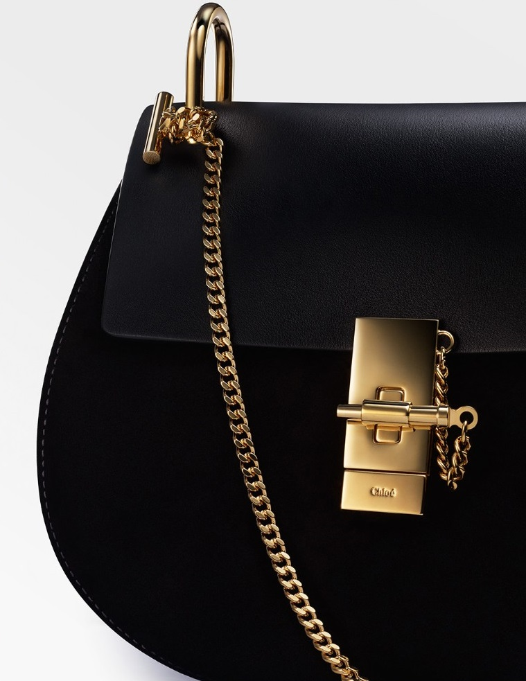 Chloé Drew mini leather and suede cross-body bag (2)