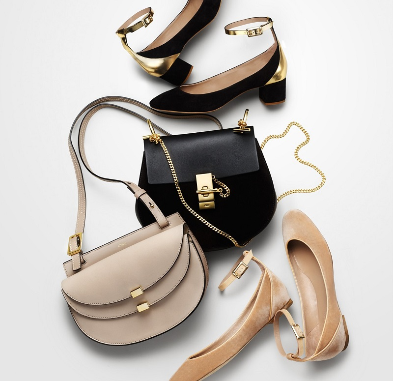 Chloé Drew mini leather and suede cross-body bag