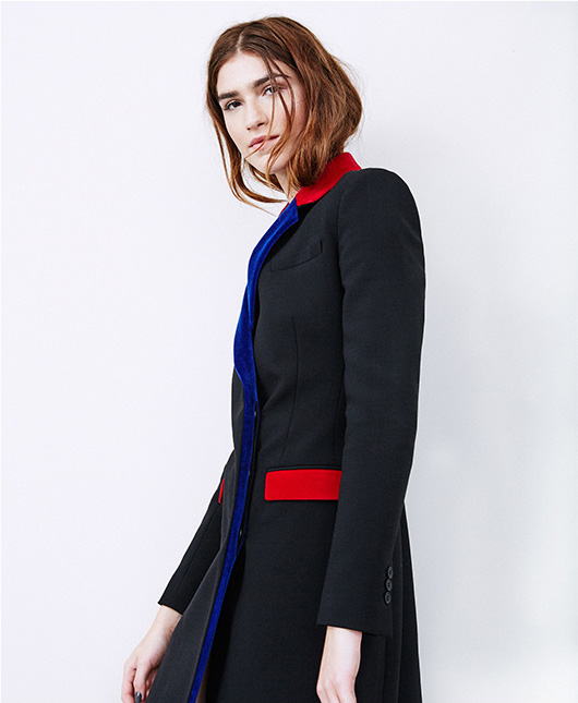 Christopher Kane Contrast-trim Tailored Coat