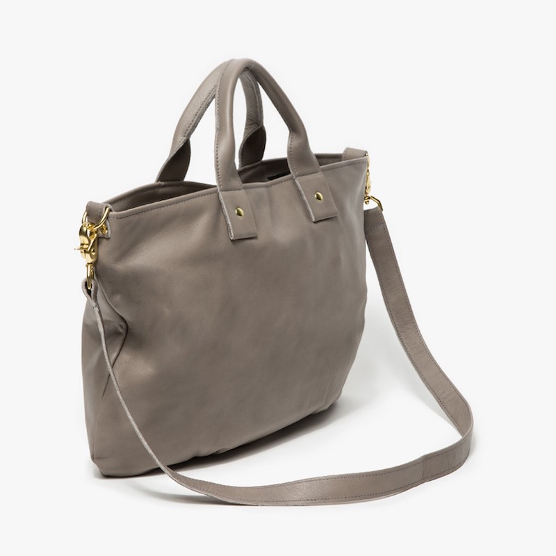 Clare V. Leather Leather Messenger