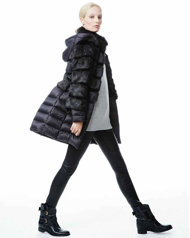 Dawn Levy Taryn 2-in-1 Fox Fur Puffer Coat