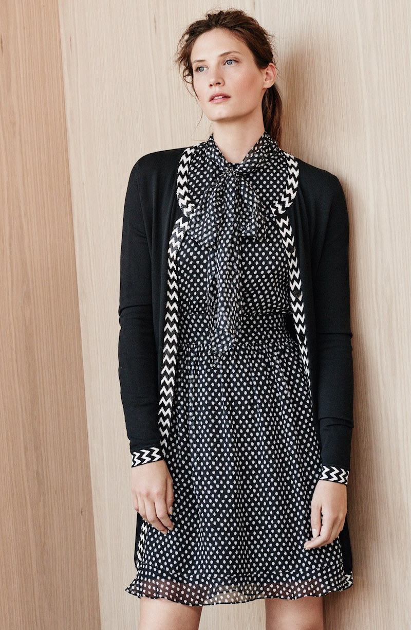 Diane von Furstenberg Arabella Dot Print Silk Dress