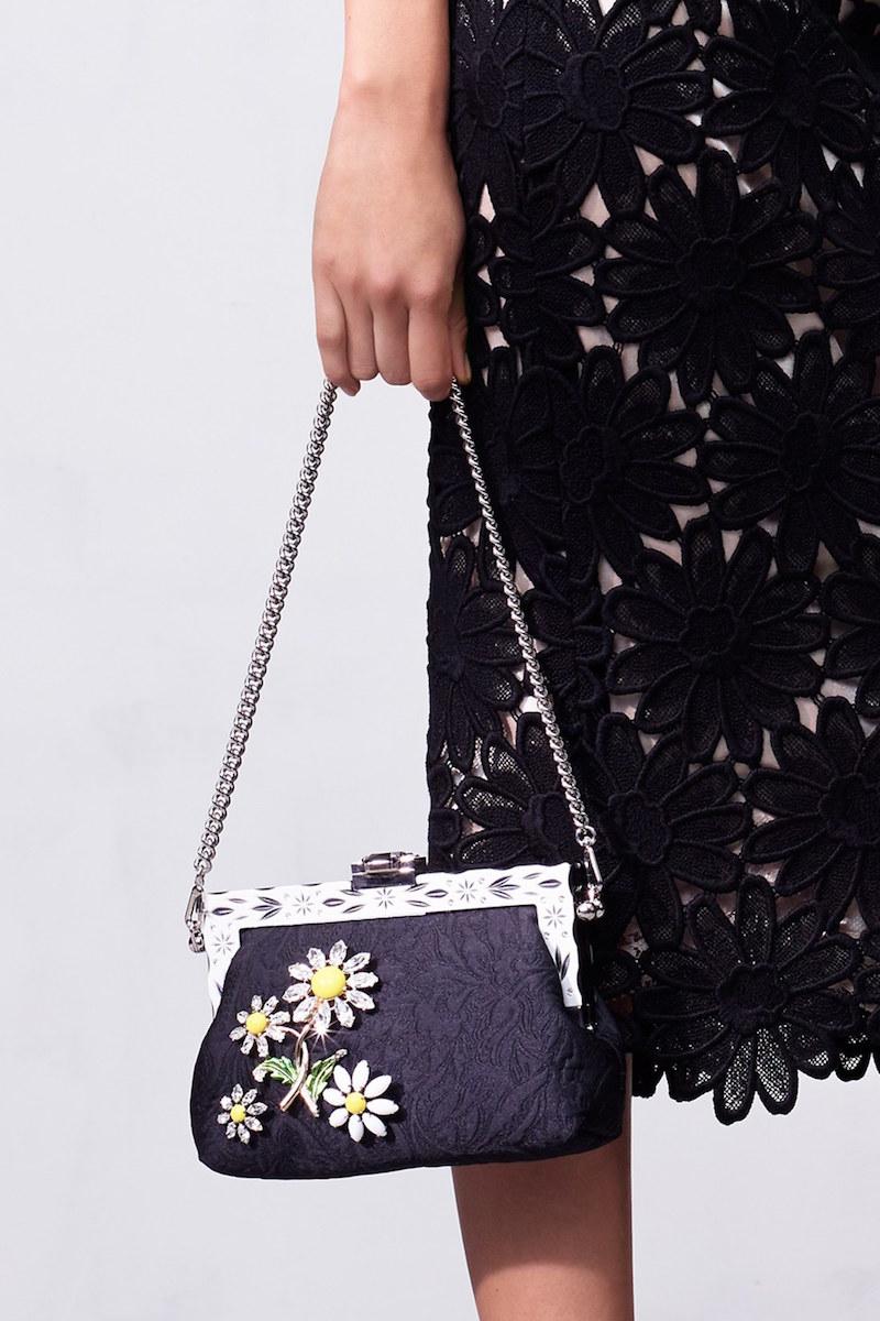 Dolce&Gabbana Crystal Flower Frame Clutch