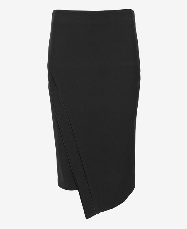 Elizabeth and James Lynn Asymmetric Hem Pencil Skirt