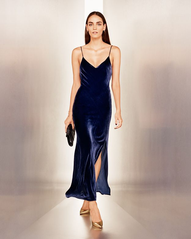 Exclusive for Intermix Addison Velvet Slip Dress