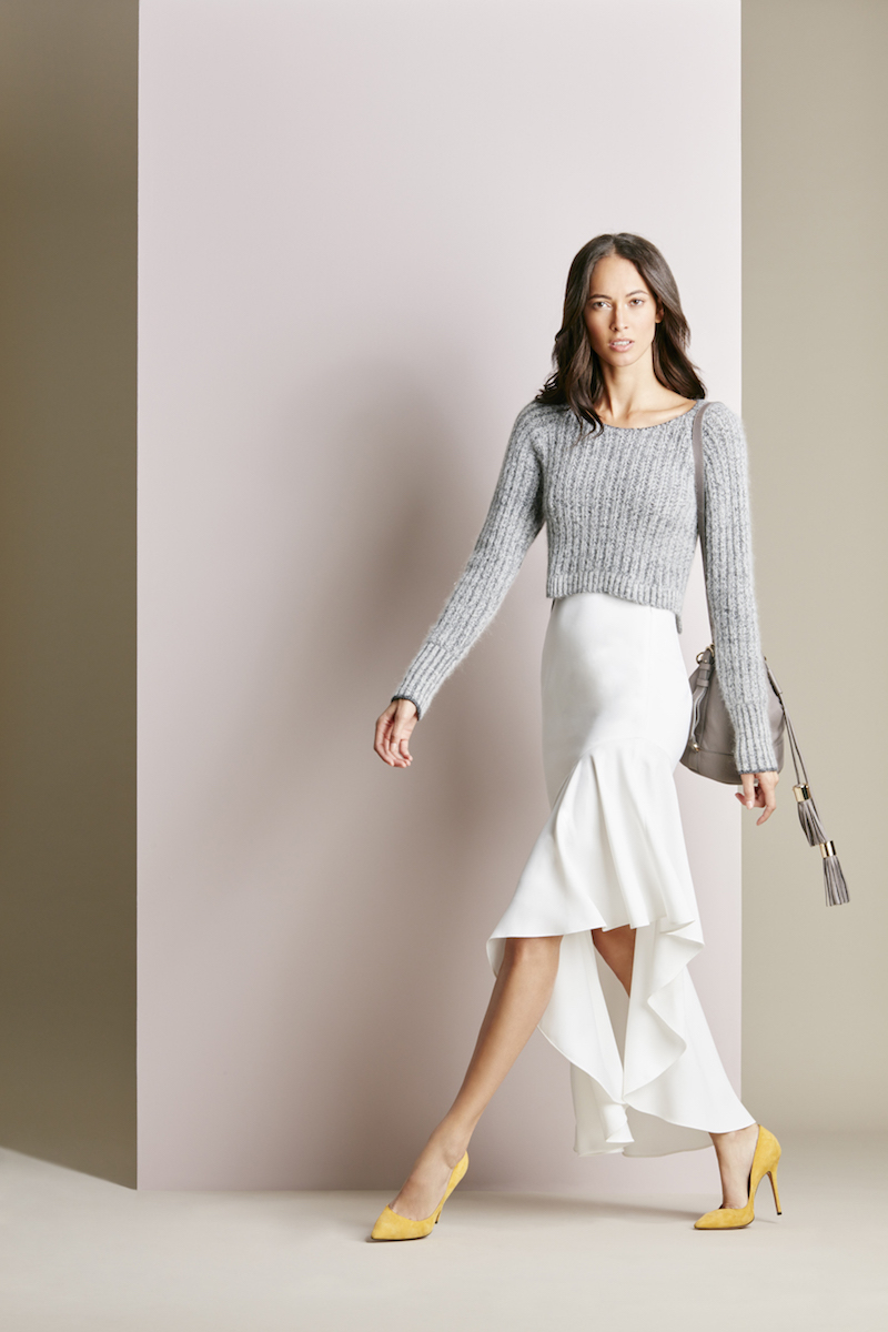 Exclusive for Intermix Dover Flounce Midi Skirt