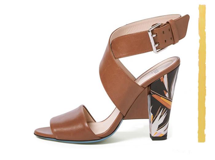 Fendi Beyond Crisscross Strap Sandal