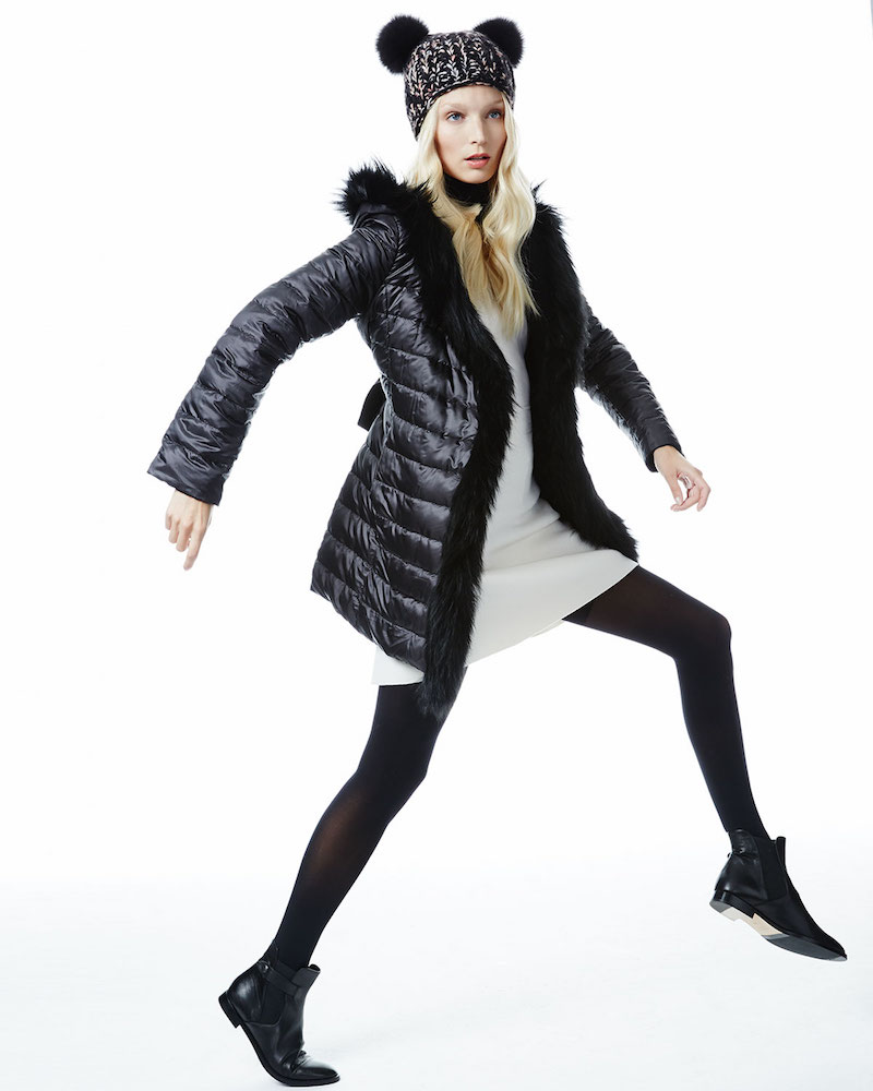 Fleurette Reversible Wool-Blend Coat with Fur Trim_1
