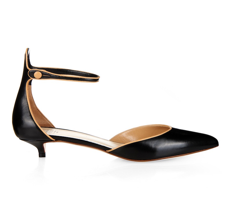 Francesco Russo Point-toe Kitten-heel Leather Pumps