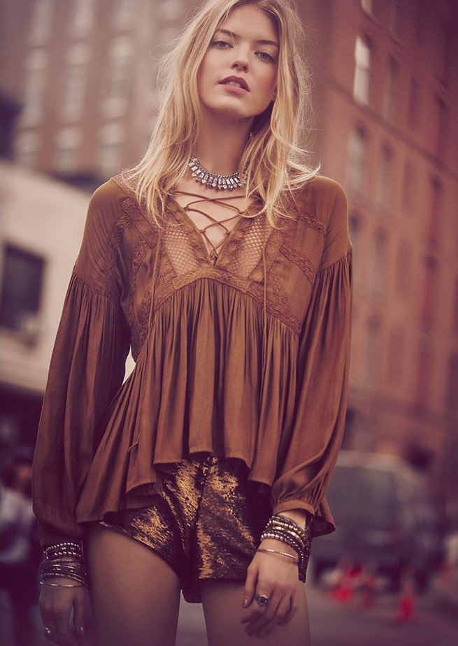 Free People Don't Let Go Peasant Top