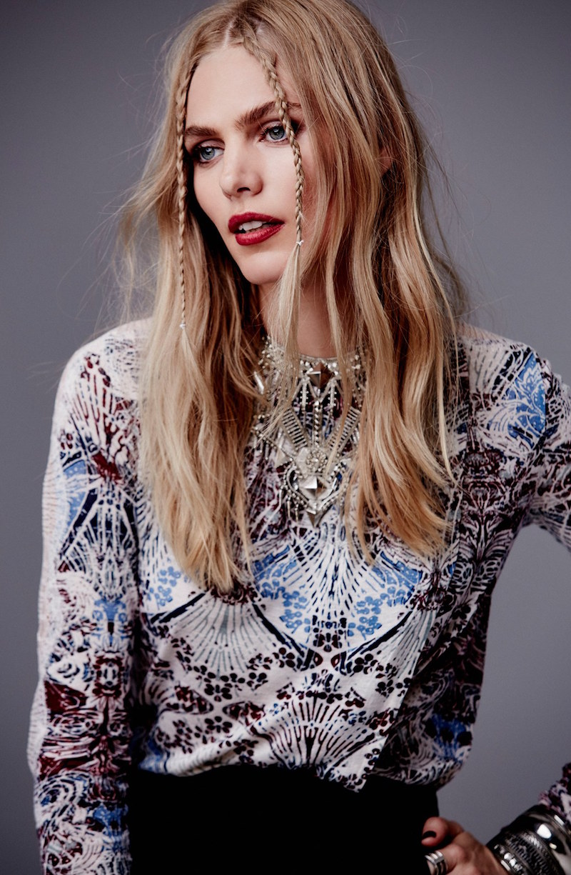 Free People New World Jersey Nouveau Top