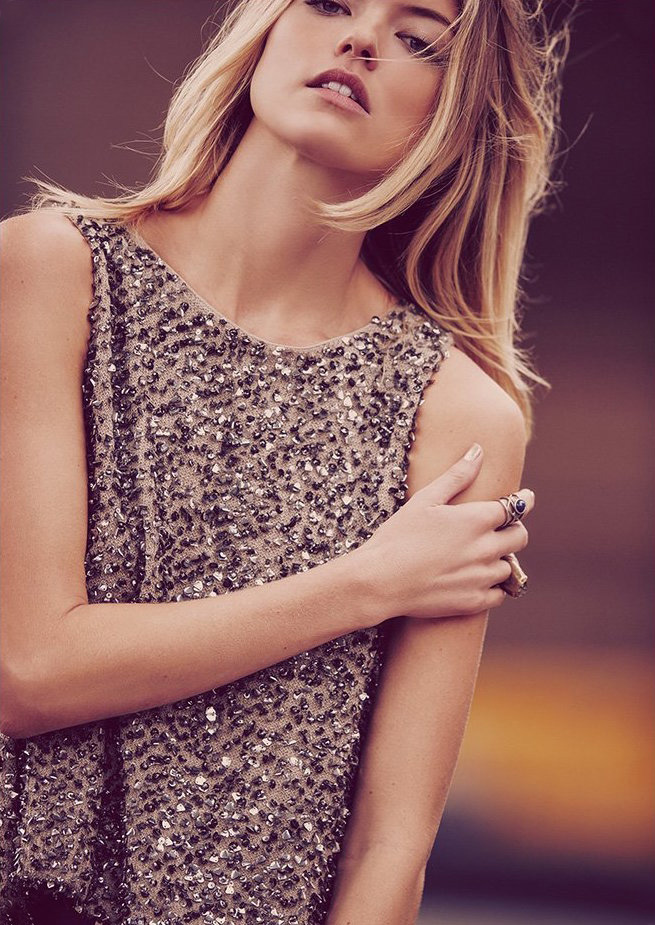 Free People Sparkle Tie Back Shell