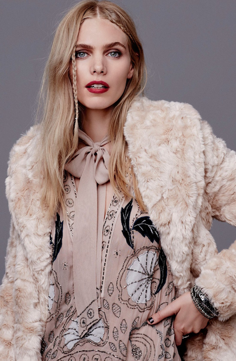 Free People Swingy Faux Fur Jacket