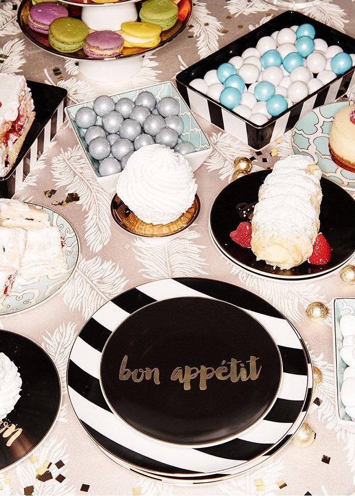 Gift Boutique Soiree Noire Appetizer Plate Set