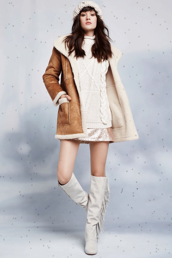 Glamorous That's the Way Shearling Coat