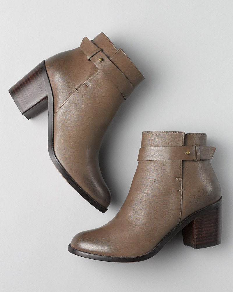 Halogen Glenna Leather Ankle Bootie_1