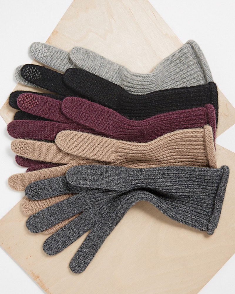 Halogen Touch Tech Cashmere Gloves