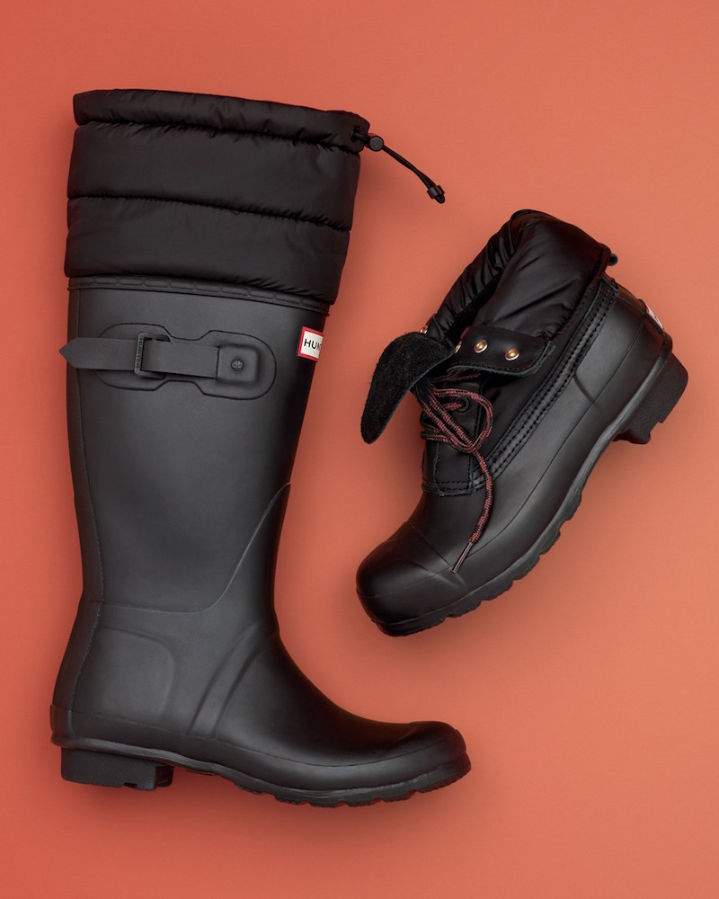 Hunter Original Quilted Cuff Rain Boot