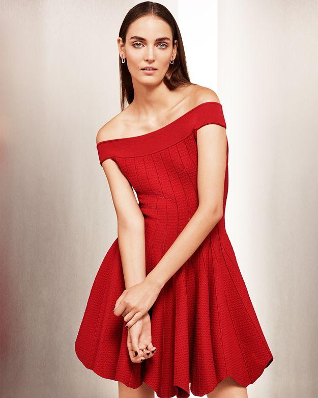 INTERMIX Exclusive Jonathan simkhai Off The Shoulder Pointelle Dress