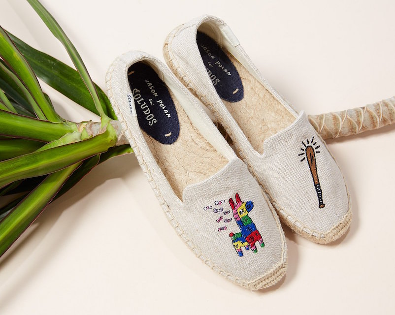 Jason Polan for Soludos Pinata Smoking Slipper Espadrilles
