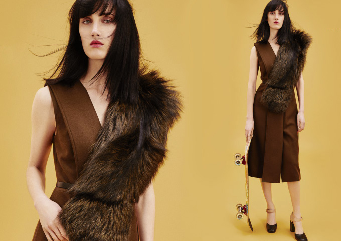Jason Wu Fur-trimmed Wool Dress