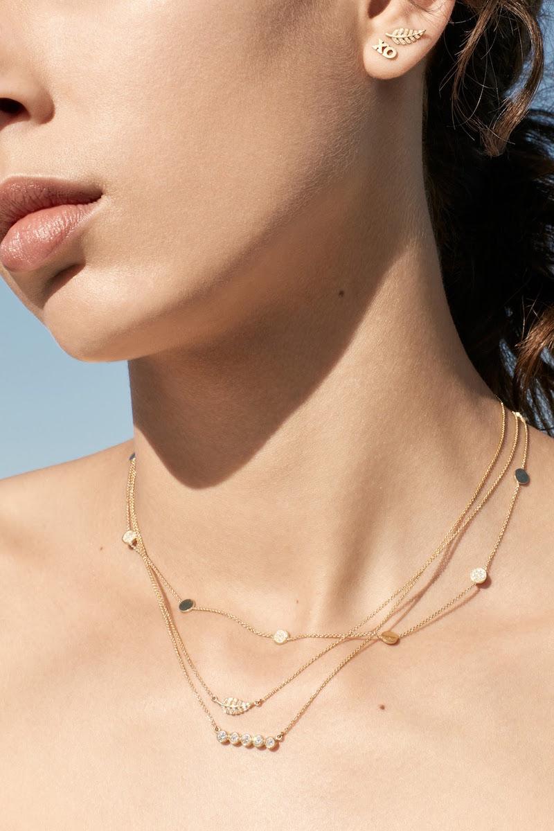 Jennifer Meyer Bezel Pendant Necklace