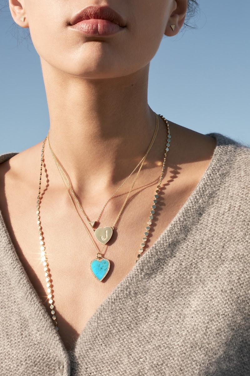 Jennifer Meyer Heart Pendant Necklace
