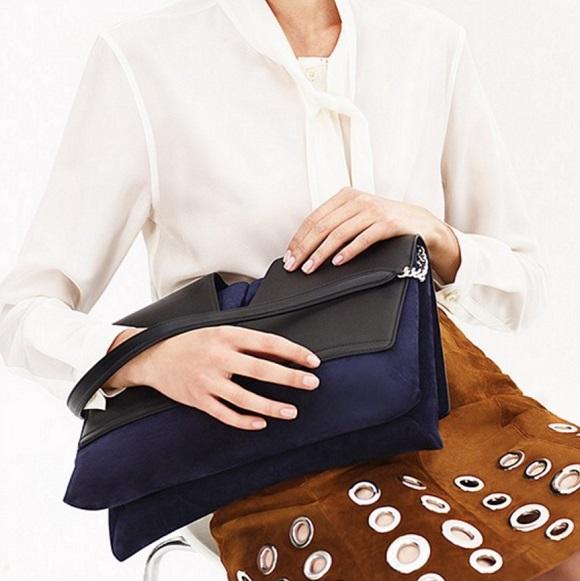 Jil Sander View suede and leather shoulder bag