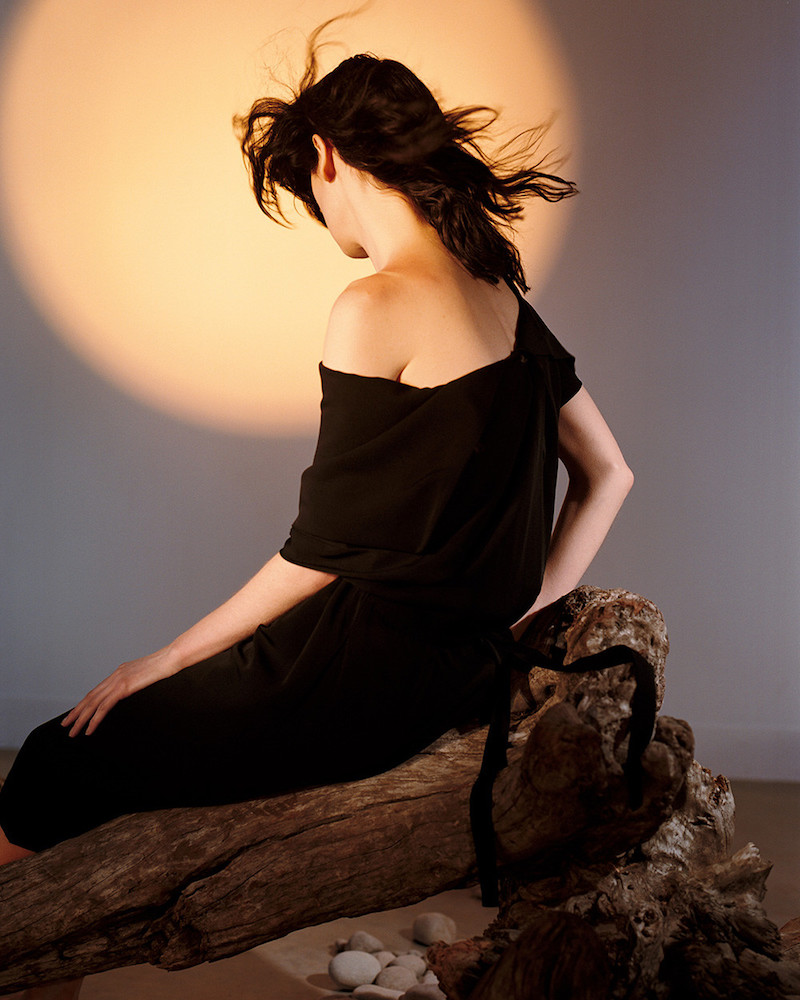Loewe Black Open Drape Dress