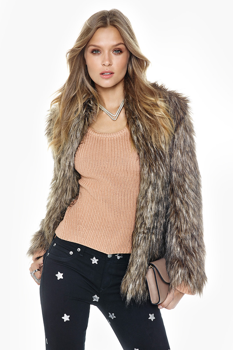 Lovers + Friends Selena Fur Coat