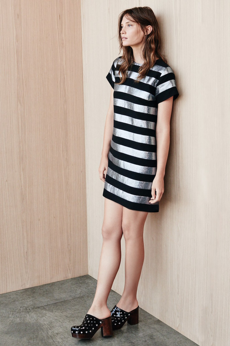 MARC BY MARC JACOBS Stripe Lamé Shift Dress
