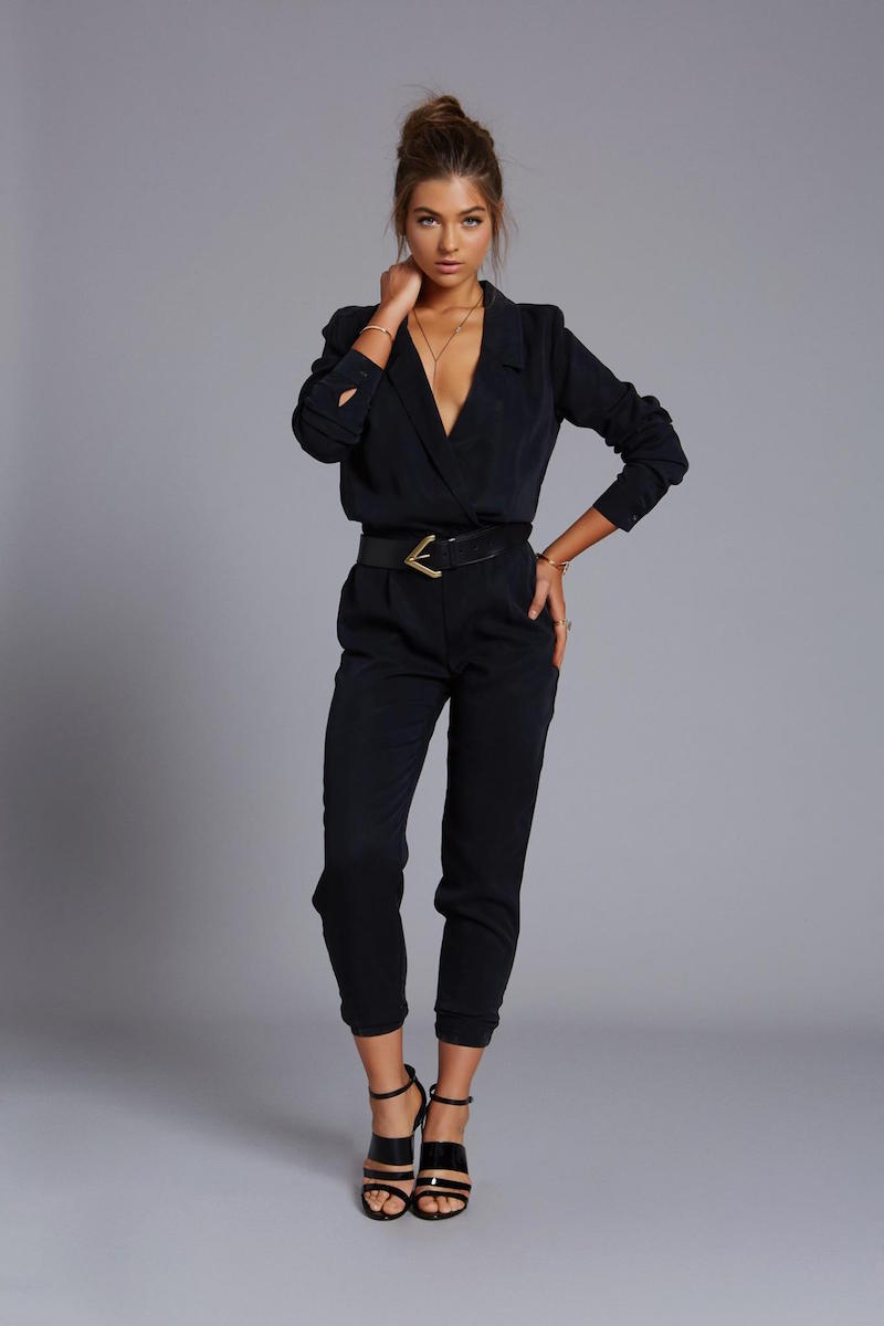 Michael Stars Long Sleeve Collard Jumpsuit