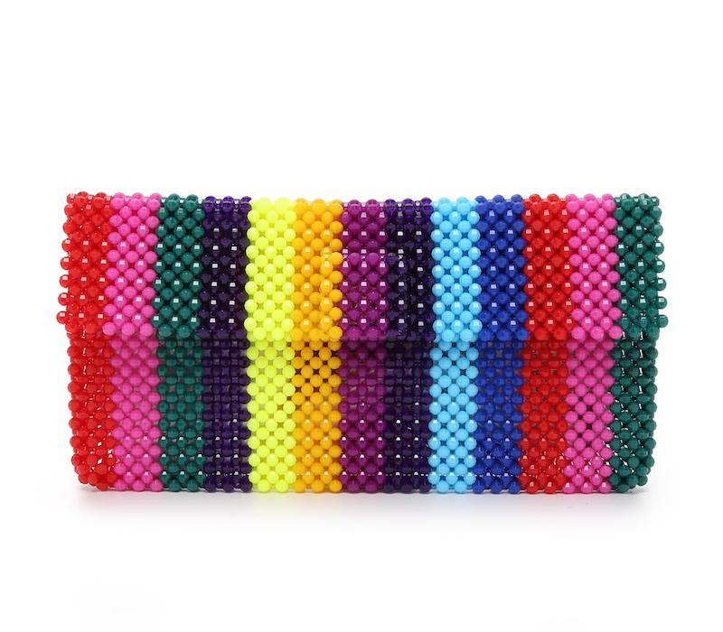 Mira Mikati Del Duca Rainbow Clutch