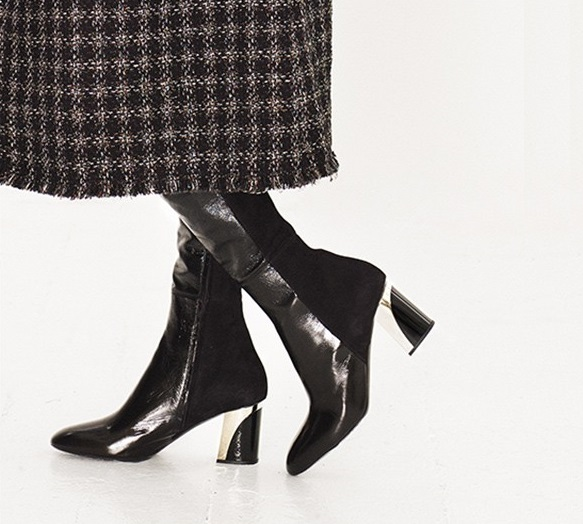 Proenza Schouler Suede and leather over-the-knee boots