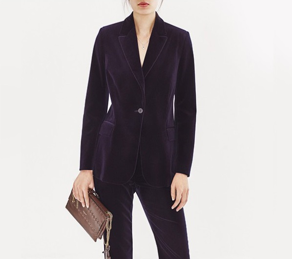 Raey Single-breasted velvet jacket