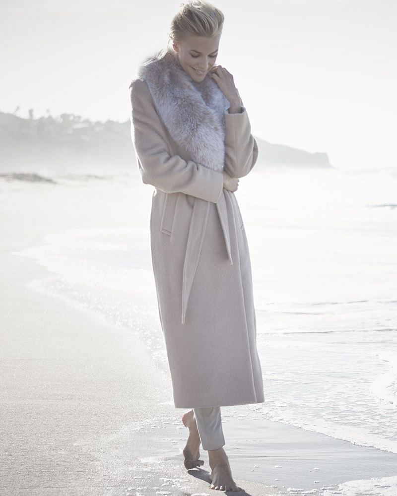 Sofia Cashmere Long Alpaca-Blend Wrap Coat (2)