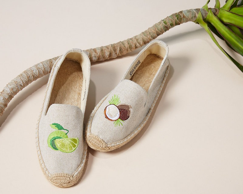 Soludos Lime & Coconut Smoking Slipper Espadrilles