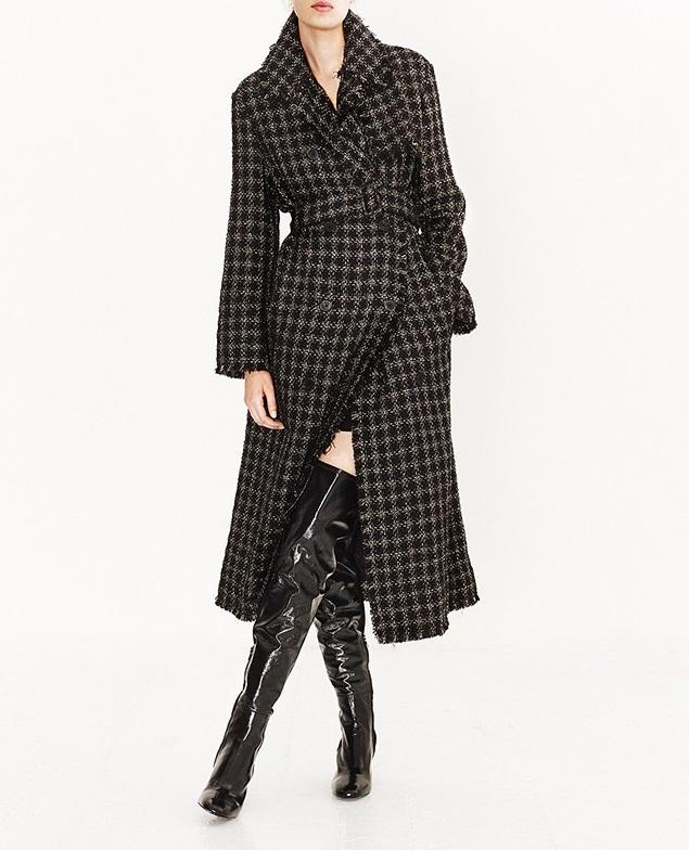Sonia Rykiel Lamé-tweed trench coat