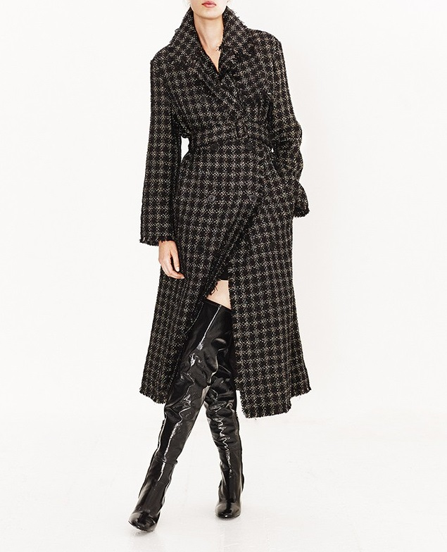 Sonia Rykiel Lamé-tweed trench coat