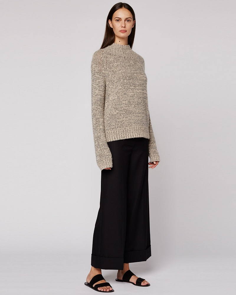 THE ROW Hetty Funnel-Neck Sweater