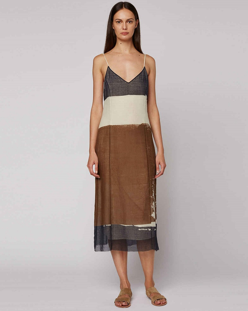 THE ROW Mucca Sleeveless Screen-Print Dress