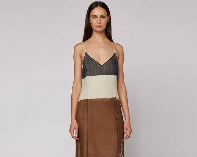 THE ROW Mucca Sleeveless Screen-Print Dress
