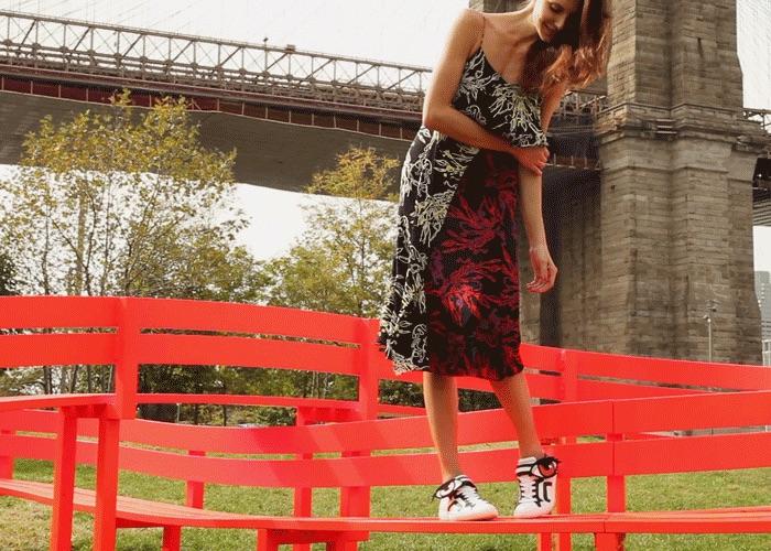 Tanya Taylor Bella Printed Silk Dress